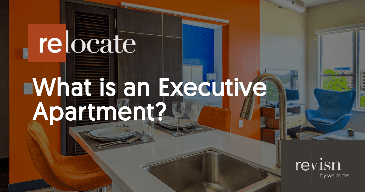 "Header graphic with text ""What is an Executive Apartment?"""